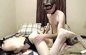 Slutty Trans Pain in the neck Eaten And Teased By Her  Grown up Partner