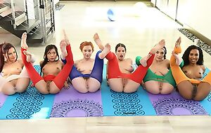 Six horny ladies organised passionate lesbian party