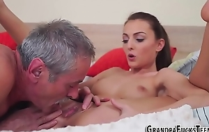 Teen jerks old mans learn of