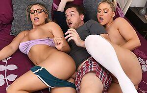 Kyle bangs one surprising blonde chicks in bed