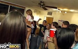 BANGBROS - Pornstars Sara Jay, Jayden Jaymes, Alexis Fawx, and Anastasia Morna Invade Code of practice Dorm!