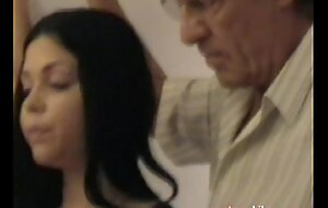 Elderly gropers juvenile girl's heavy mambos grabbed in the matter of foreign lands from cur� part1a