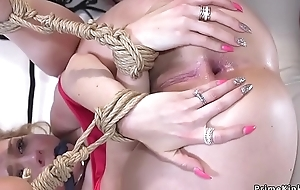 Anal be crazy increased by cum roughly rope bondage